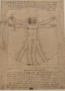 Die Zeichnung da Vincis wird jetzt für kurze Zeit dem Publikum zugänglich gemacht