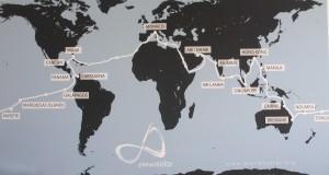 Stationen einer Weltreise ohne fossile Treibstoffe  (Foto R.W.)